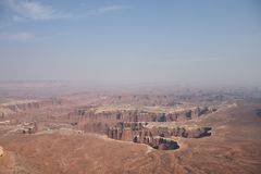 A view from the top of Canyonlands National Park in Utah, USA royalty free stock photos