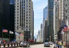 Magnificientmijl in Chicago Royalty-vrije Stock Afbeeldingen