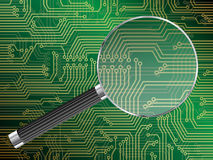 Magnified Circuit Board Royalty Free Stock Photos