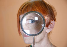 Magnified eye Stock Photo