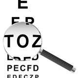 Magnified Eye chart Royalty Free Stock Photography