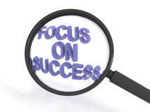 Magnified focus on success Royalty Free Stock Image
