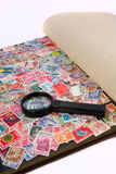 Magnified glass Royalty Free Stock Images