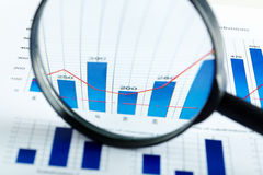 Magnified increase Stock Photo