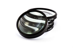 Magnified lenses in white. 4 Magnified lenses in white Royalty Free Stock Image
