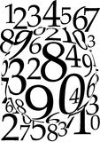 Magnified Numbers Background Stock Photos