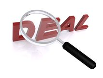Magnified word deal Stock Photography