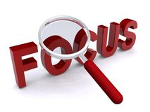 Magnified word focus Stock Photos
