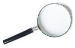 Magnifier ή ενίσχυση - γυαλί που απομονώνεται στο λευκό Στοκ Φωτογραφίες