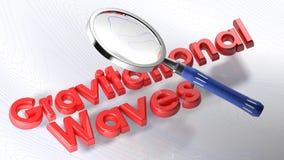 Magnifier στα βαρύτητας κύματα - τρισδιάστατη απόδοση διανυσματική απεικόνιση