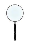 Magnifier στην απομόνωση στο λευκό Στοκ Εικόνες