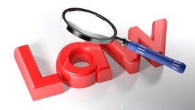 Magnifier στον κόκκινο νόμο - τρισδιάστατη απόδοση ελεύθερη απεικόνιση δικαιώματος
