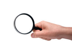 Magnifier imagens de stock royalty free