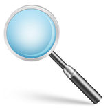 Magnifier. Glossy icon for web and print usage stock illustration