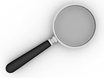 Magnifier. 3d magnifier on white background Royalty Free Stock Photo
