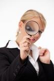 Magnifier imagens de stock