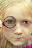 magnifier Fotografia Stock Libera da Diritti
