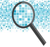 Magnifier analyze Stock Photography