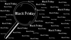 Magnifier Black Friday Stock Photography