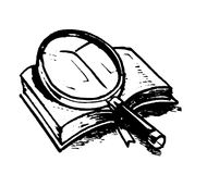 Magnifier Royalty Free Stock Photography