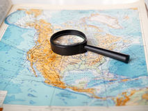 Magnifier and card Stock Photography