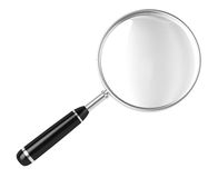 Magnifier!. Magnifier. 3D image. On a white background royalty free illustration