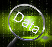 Magnifier Data Indicates Magnification Magnifying And Facts Royalty Free Stock Photo