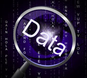 Magnifier Data Represents Information Magnifying And Magnification Royalty Free Stock Photo