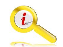 Magnifier do ouro ilustração royalty free