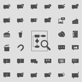 Magnifier on the document icon. Detailed set of  Minimalistic  icons. Premium quality graphic design sign. One of the collection i. Cons for websites, web design Royalty Free Stock Photo