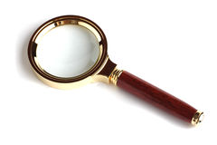 Magnifier due su priorità bassa bianca Fotografie Stock Libere da Diritti
