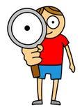 Magnifier dzieciak royalty ilustracja