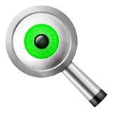 Magnifier eye Stock Photo