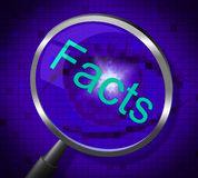 Magnifier Facts Shows Knowledge Searching And Answers Stock Photography