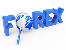 Magnifier Forex Shows Currency Exchange And Fx Stock Photo