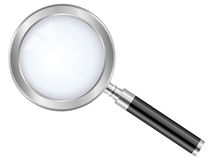 Magnifier glass. Magnifier isolated on a white background royalty free illustration