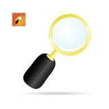 Magnifier glass color art vector Royalty Free Stock Image