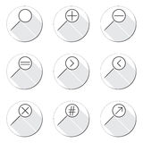 Magnifier Glass Icons Royalty Free Stock Photo