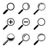 Magnifier Glass Icons Royalty Free Stock Photos