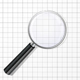 Magnifier glass Stock Photos