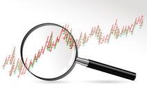 Magnifier glass Stock Photos