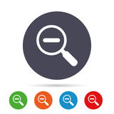 Magnifier glass sign icon. Zoom tool. Navigation. Royalty Free Stock Photos