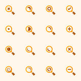 Magnifier glass and zoom vector icons set Royalty Free Stock Images