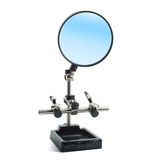 Magnifier Helping Hand Magnifying Glass. Stock Photo