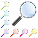 Magnifier icon Royalty Free Stock Photos