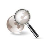 Magnifier. Icona di ricerca del Internet illustrazione di stock
