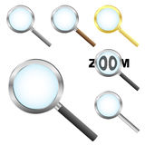Magnifier icons royalty free stock photos