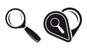 Magnifier icons Stock Photo