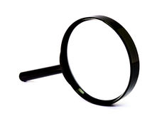 Magnifier. A magnifier isolate white background stock photo