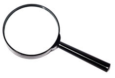Magnifier on an isolated Royalty Free Stock Photography